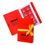 Promotional Belgian Chocolate 16 x 5g-Card Book