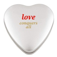 Promotional Large Heart Tin with Sweets