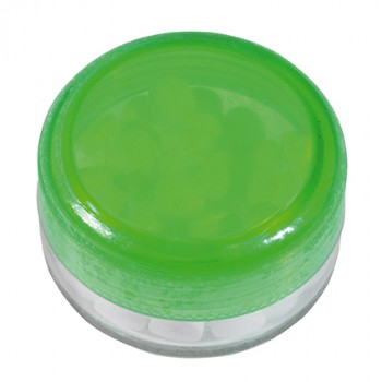Promotional Round Plastic Container of  Mints