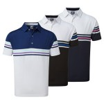 Branded FootJoy Men's Stretch Pique Colour Block
