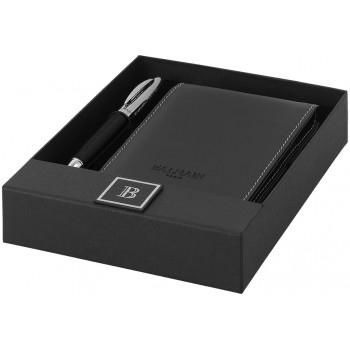 Promotional Leather Notebook and Pen Gift Set