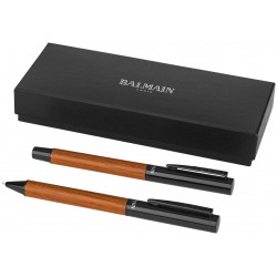 Promotional Woodgrain Duo Pen Set