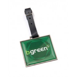 Branded Rectangular Metal Golf Bag Tag