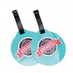 Branded Round Golf Bag Tag