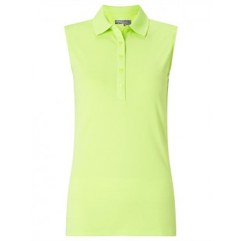 Branded Callaway Ladies Sleeveless Micro Hex Polo