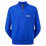 Branded Footjoy Gents Lambswool V Neck Golf Pullover 1/2 Zip