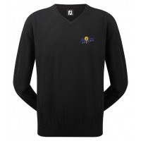 Branded Footjoy Gents Lambswool V Neck Golf Pullover