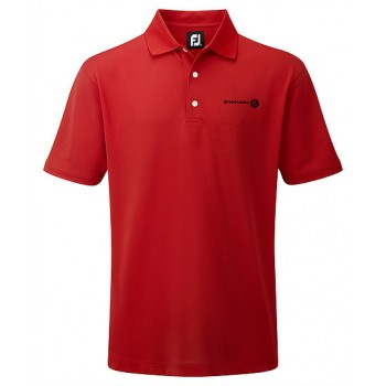 Branded Footjoy Gents Pique solid colour polo traditional fit