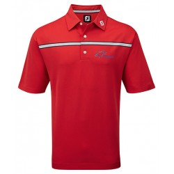 Branded Footjoy Gents Stretch Pique chest stripe polo traditional fit