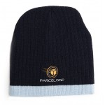 Branded Two Tone Cable Knit Golf Beanie