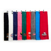 Promotional Luxury Velour Trifold Golf Towel