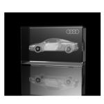 Branded Crystal Glass Vehicle Paperweight or Award