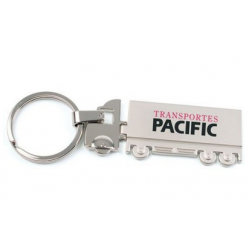 Branded Trailer Silver Chrome Finish Keyring