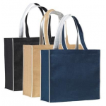 Branded Davington Jute Tote Bag