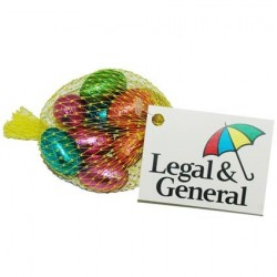 Promotional Net of Foil Wrapped Easter Eggs