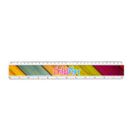 Branded 30cm Plastic Inserted Ruler
