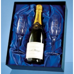 Branded Champagne and Glasses Set - From £15.00