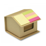 Branded House Shaped Note Pad and Flag Marker Set