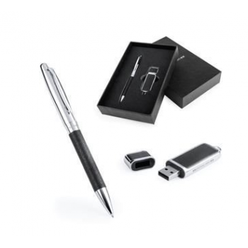 Branded Dermop Pen & USB Stick Set