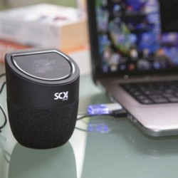 Branded Wireless Speaker and Phone Charger for SCX