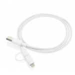 Promotional 2-IN-1 Cable with MFI Licensed Apple Lighting Plug