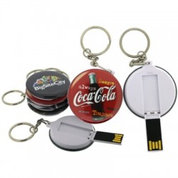 Promotional USB Button Flash Drive
