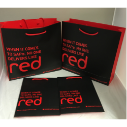Branded Red Commerce Bag