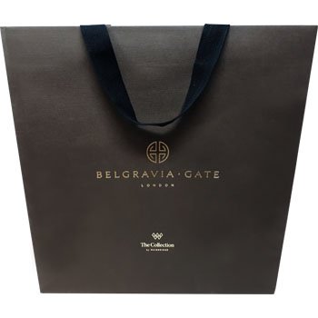 Printed Luxury Ribbon Handled Bag for Belgravia