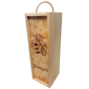 Branded Faustino Wooden Drinks Packaging