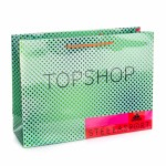 Printed TopShop Gloss Laminate Rope Handled Bag