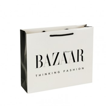 Printed Bazaar Gloss Laminate Rope Handled Bag