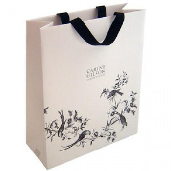 Bespoke Printed Ribbon Handle Carrier Bag for Carine Gilson