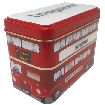 Promotional Livingstone Sweet Bus Tin