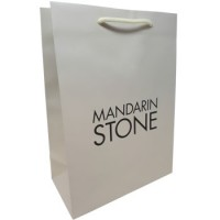 Printed Rope Handled Bag for Mandarin Stone