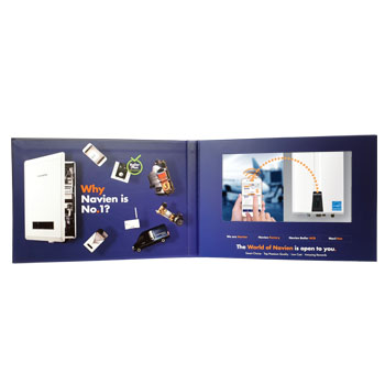 Printed Video Brochure for Navien