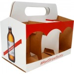 Bespoke Folding Board Drinks Packaging for Red Stripe