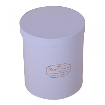 Custom Round Box Containing Flowers
