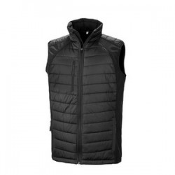 Promotional Result Black Compass Padded Soft shell Gilet