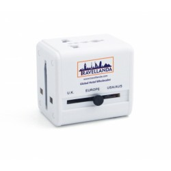 Branded Compact Travel Adapter