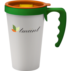 Universal Branded Takeaway Coffee Cup with handle