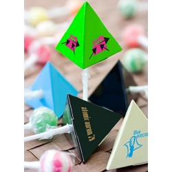 Promotional Lollipop in a Triangle Box