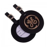 ROUND LEATHER GOLF BAG TAG