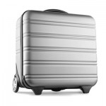 HARD ABS BUSINESS TROLLEY SUITCASE in Silver