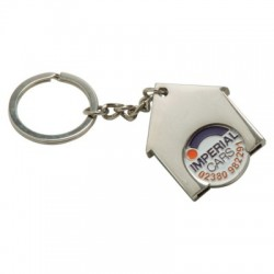 HOUSE SHAPE TROLLEY COIN KEYRING