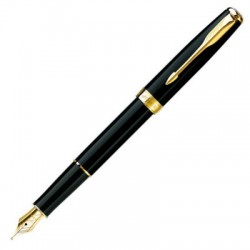 PARKER SONNET FOUNTAIN PEN in Black Solid