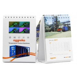 Promotional Desktop Flip Calendar with Video Screen