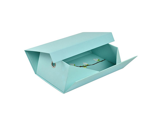 Sky blue floral collapsible rigid box