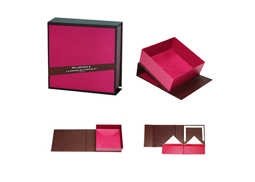 Pink collapsible rigid box example