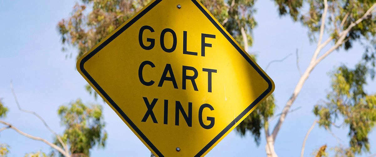 Branded golf signage