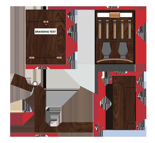 Box design dimension example